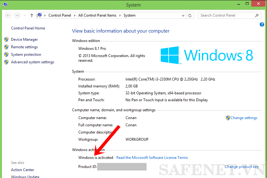 Cách 3 Active win 8.1-B3_result