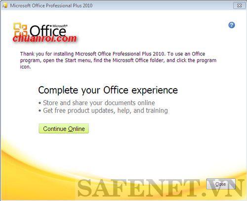 cài đặt office 2010 toolkit v2.0-B5_result