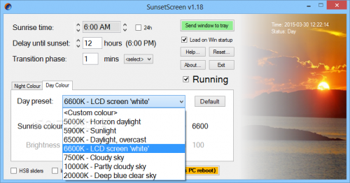 phần mềm lọc ánh sáng xanh pc sunset creen