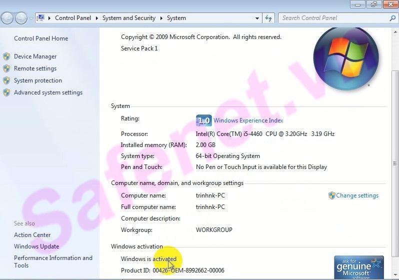 cài đặt windows loader - B4_result